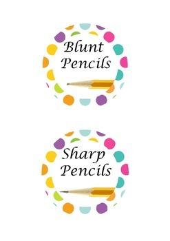 Sharp and Blunt Pencil Pots