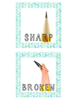 Sharp and Broken Pencil Signs