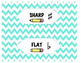 Sharp and Dull Music Pencil Labels