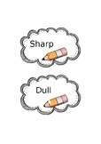 Sharp and Dull Pencil Label
