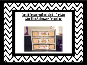 {Freebie!} Sharp and Dull Pencil Labels for Sterilite Organizer or any system!