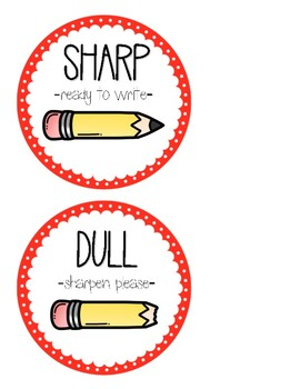 Sharp and Dull Pencil Labels