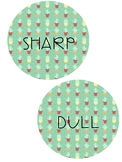 Sharp and Dull Pencil Labels - Cactus Theme
