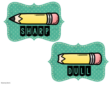 Sharp and Dull Pencil Labels **FREEBIE**