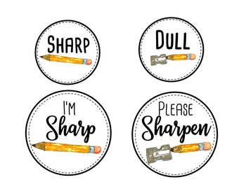 Sharp and Dull Watercolor Pencil Labels (FREEBIE)