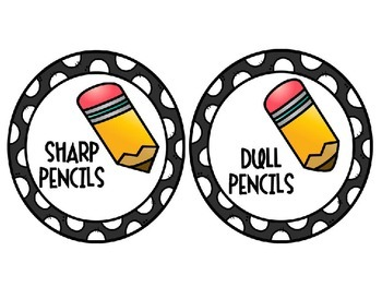 Sharp and Dull Pencil Labels {Freebie}