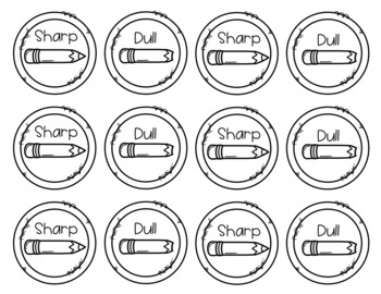 Sharp and Dull Pencil Labels Freebie