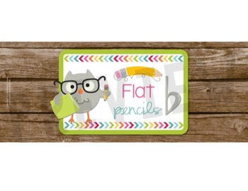 Sharp and Flat Pencil Cup Labels
