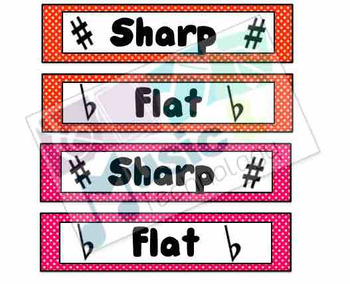 Sharp and Flat Signs for Pencil Holders