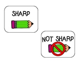 Sharp and Not Sharp Pencils labels