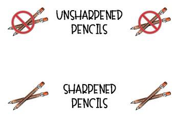 Sharp and Unsharpened Pencils