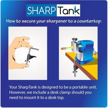 SharpTank   Honey Bee Yellow   The Perfect Pencil Sharpener for Classroom Use