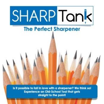 SharpTank | Metallic Rose | The Perfect Pencil Sharpener for Classroom Use