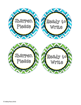 Sharpen Please & Ready to Write labels