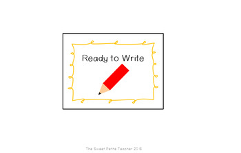 Pencil Bucket Labels: 'Sharpen Please' and 'Ready to Write'
