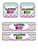 Sharpened / Unsharpened Pencil Labels