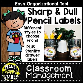 Sharpened & Unsharpened Pencils or Sharp & Broken ~ Camping Theme