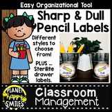 Camping Theme Sharp and Dull Pencil Labels