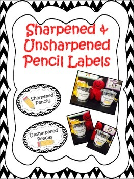 Sharpened & Unsharpened Pencils or Sharp & Broken ~ Chevron Black/White Print