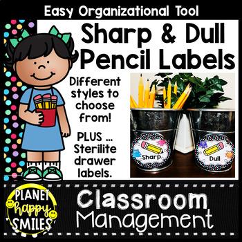 Sharpened & Unsharpened Pencils or Sharp & Broken, Monster Theme