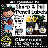 Monster Theme Sharp and Dull Pencil Labels