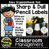 Owl Theme Sharp and Dull Pencil Labels