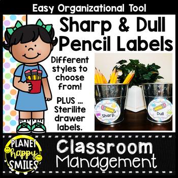Sharpened & Unsharpened Pencils or Sharp & Broken ~ Owl Theme