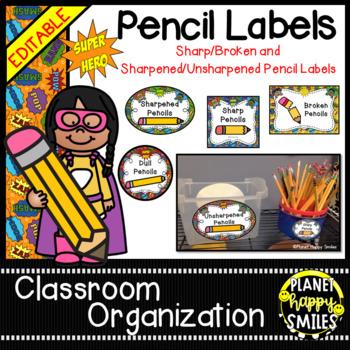 Sharpened & Unsharpened Pencils or Sharp & Broken ~ Super