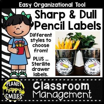 Sharpened & Unsharpened Pencils or Sharp & Broken ~ Zebra Print
