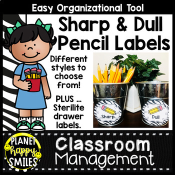 Sharpened & Unsharpened Pencils or Sharp & Broken ~ Zebra Print