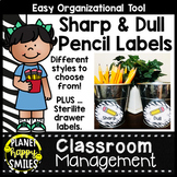Zebra Print Sharp and Dull Pencil Labels