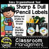 Under the Sea Ocean Theme Sharp and Dull Pencil Labels