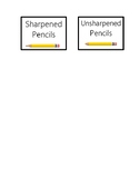 Sharpened and Unsharpened Pencil Label