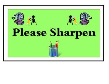 Sharpened or Please Sharpen