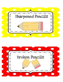 Sharpened/Broken Pencil Can Labels
