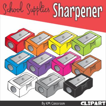 Sharpener in Rainbow Colors - Clip Art