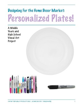 Sharpie Marker Plate Project