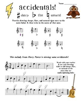 Sharps & Flats theory worksheets