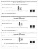 Sharps, Flats, and Enharmonic Notes- Assessment Slips