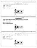 Sharps and Flats - Assessment Slips