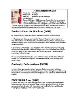Shattered Glass Film Critique Worksheet