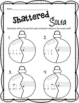 Shattered Solfa: A Stick-to-Staff Notation Game {Low So}