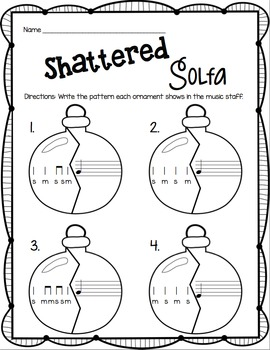 Shattered Solfa: A Stick-to-Staff Notation Game {So and Mi}