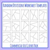Shattered Worksheets or Random Divisions Worksheet Templates Clip Art