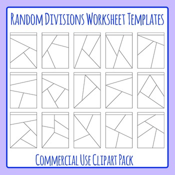 Shattered Worksheets or Random Divisions Worksheet Templates Clip Art
