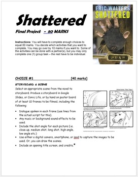 Shattered by Eric Walters: Complete Novel Study