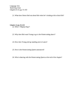 Shattering Glass Chapter 8-13 Study Questions