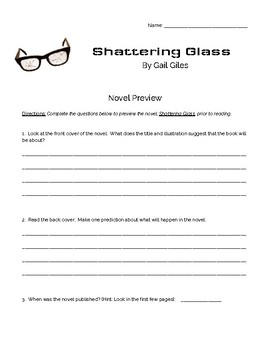 Shattering Glass by Gail Giles Novel Preview