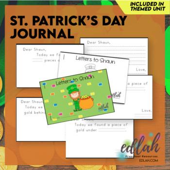 Shaun the Leprechaun Printable Journal (St. Patrick's Day)
