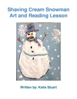 Shaving Cream Snowman Art and Reading Lesson